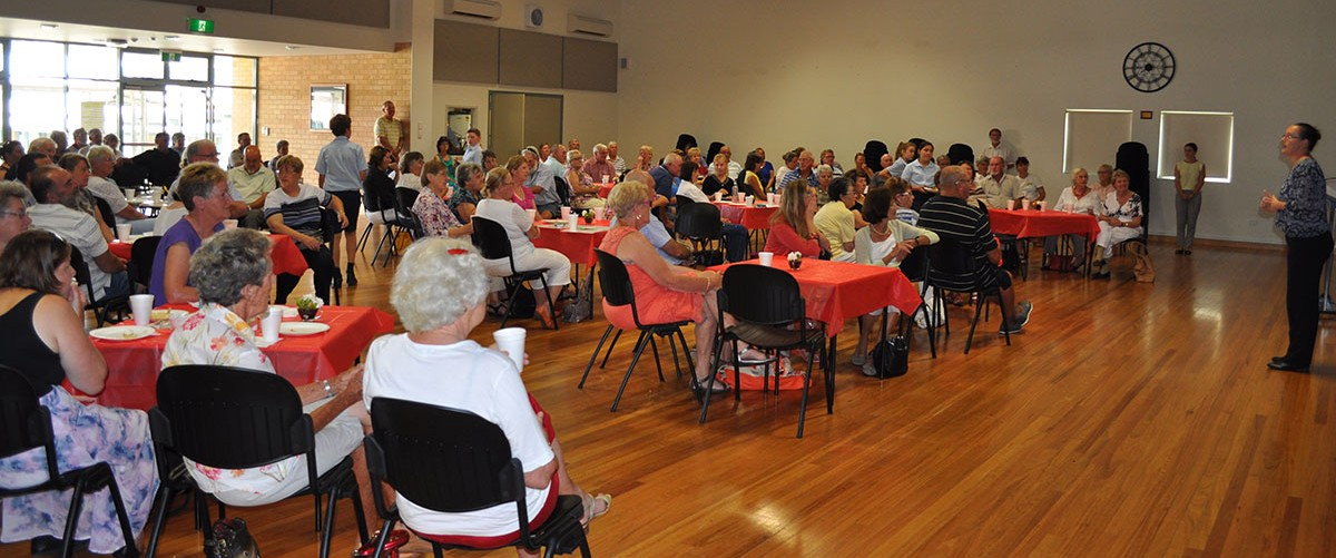 Our school community gathers in the hall for Grandparents Day