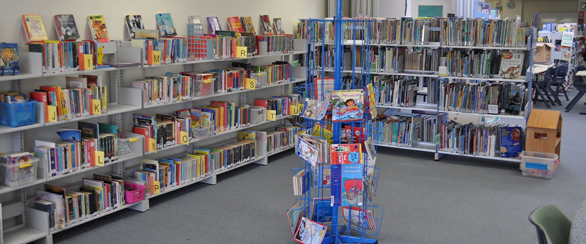 The fiction section of the school library